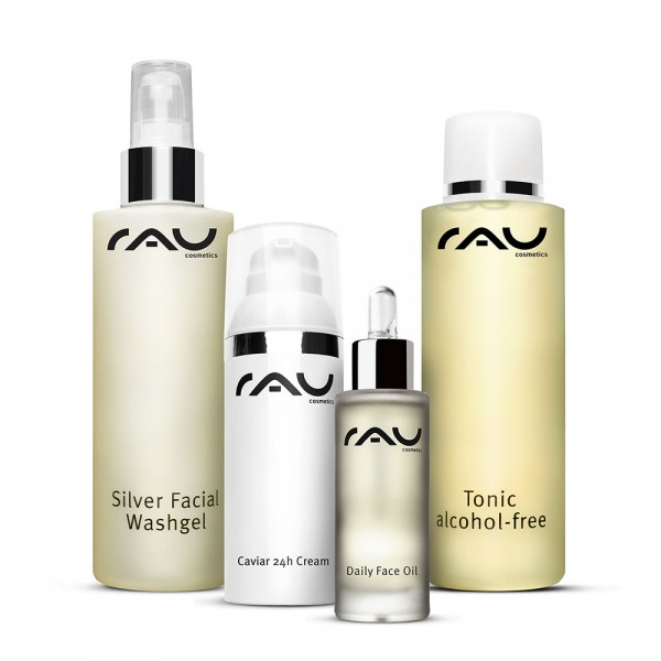 Verzorgingsset voor de rijpe huid - reiniging, tonic, dag- en nachtverzorging - full size verpakking