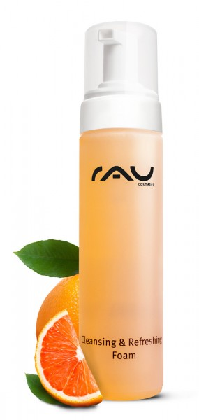RAU Cleansing & Refreshing Foam 200 ml - Reinigings-/doucheschuim met de geur van sinasappel