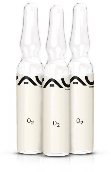 RAU O2 Ampoule 3 stuks x 2 ml - schoonnheidsconcentraat voor het ultieme frisse effect