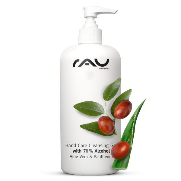 RAU Hand Care Cleansing Gel 500 ml - Handreiniging met 70% alcohol, aloë vera, jojoba en panthenol