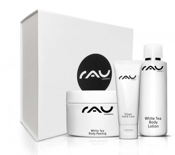 RAU luxe geschenkdoos met Body Peeling, Body Lotion & Handcare