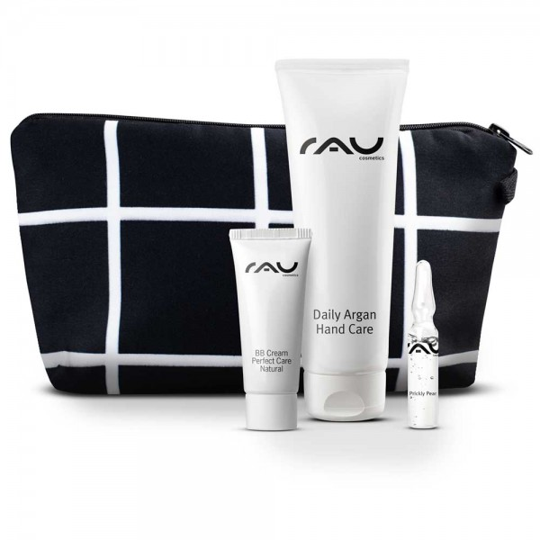 RAU Cosmetics Nederland Belgie Cadeauset S + stijlvol toilettasje