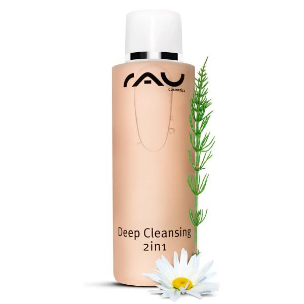 RAU Deep Cleansing 2 in1 200 ml -reinigt, verzorgt & lotioneert met aloë vera, zoethoutwortel, venkel, kamille, hamamelis & paardestaart