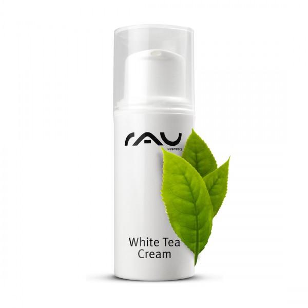 RAU White Tea Cream 5 ml pompje - zachte anti-age 24h crème met witte thee en aloë vera