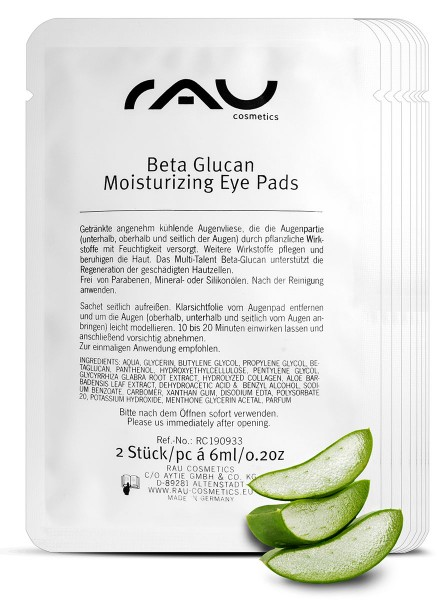 RAU Beta Glucan Moisturizing Eye Pads - hydraterende, koelende oogpads