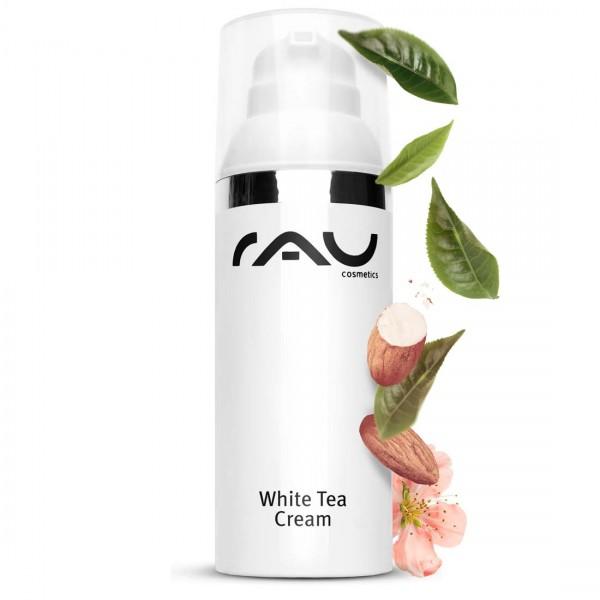 RAU White Tea Cream 50 ml pompje - zachte anti-age 24h crème met witte thee en aloë vera
