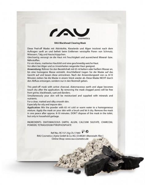 RAU Blackhead Clearing Mask -  peel-off masker voor poriëndiepe reiniging met geactiveerde kool