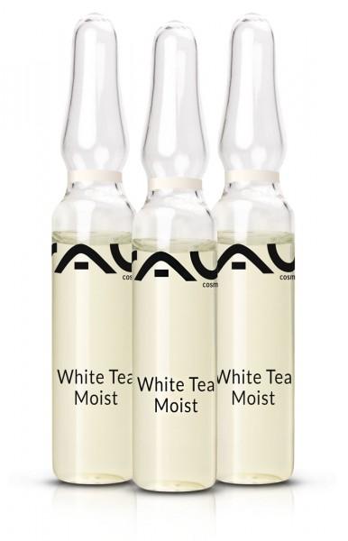 RAU White Tea Moist Ampullen 3 x 2 ml - Concentraat - tegen rimpels met hyaluronzuur & witte thee