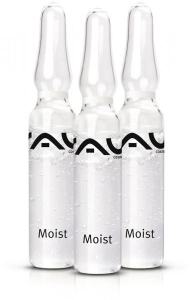 RAU Moist Ampullen 3 stuks x 2 ml  met hyaluronzuur, hydrolite®, allantoïne, sorbitol