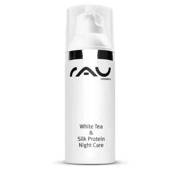 RAU White Tea & Silk Protein Night Care 50 ml - met zijdeproteïnen, witte thee & sheabutter