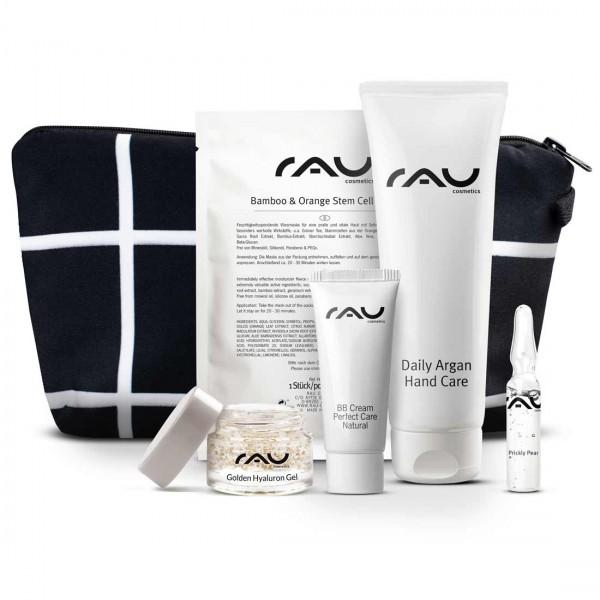 RAU Cosmetics Nederland Belgie Cadeauset L + stijlvol toilettasje