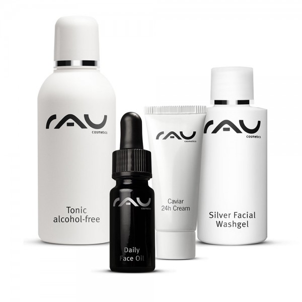 Verzorgingsset voor de rijpe huid - reiniging, tonic, dag- en nachtverzorging - mini verpakkingen